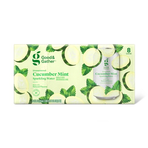 Cucumber Mint Sparkling Water - 8pk/12 fl oz Cans - Good & Gather™ - image 1 of 3