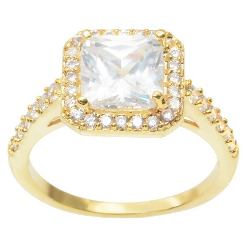 2 2/5 CT. T.W. Journee Collection Cushion Cut CZ Basket Set Engagement Ring in Brass - Gold - image 1 of 2