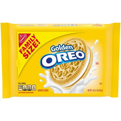 Golden Oreo Sandwich Cookies - Family Size - 19.1oz - image 1 of 4