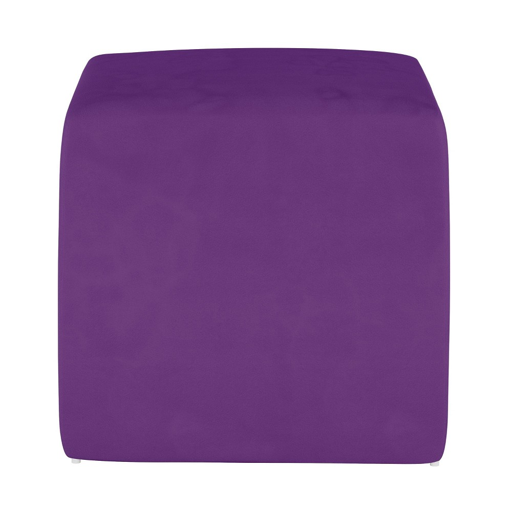 Image of Kids Cube Ottoman Premier Hot Purple - Pillowfort
