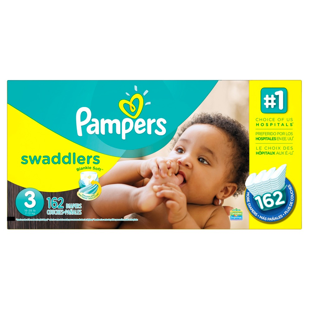 Pampers Swaddlers Diapers Economy Plus Pack Size 3 (162 ct)