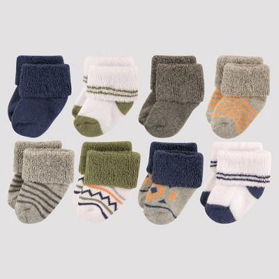 Luvable Friends Baby Boys' 8pk Sock Set - Blue 0-6M