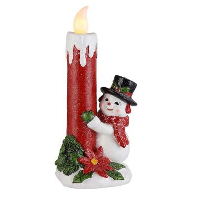 "Mr. Christmas Nostalgic Flickering LED Candle - Snowman - 12.5"""