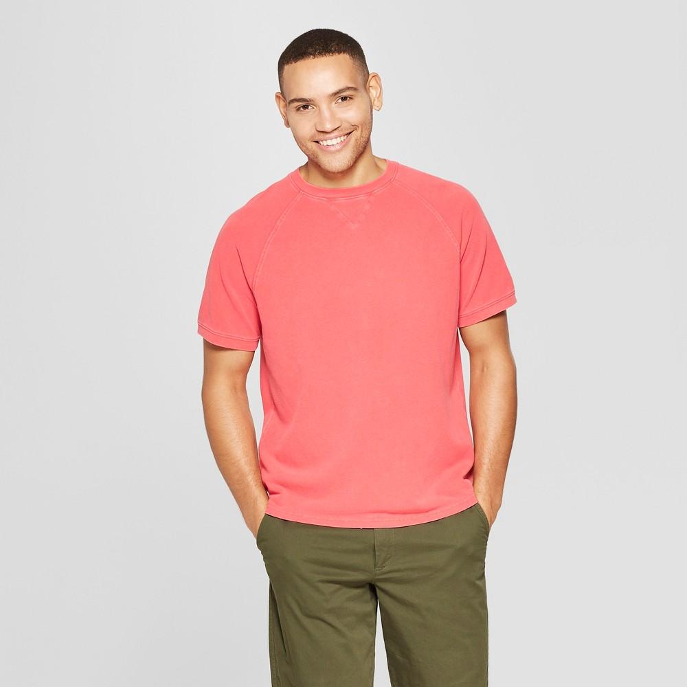 Men's Standard Fit Short Sleeve Pique Shirt - Goodfellow & Co Hot Coral 2XL