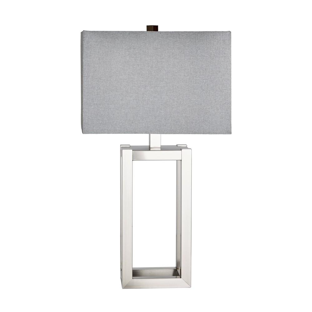 Hampton Table Lamp Silver 16.5