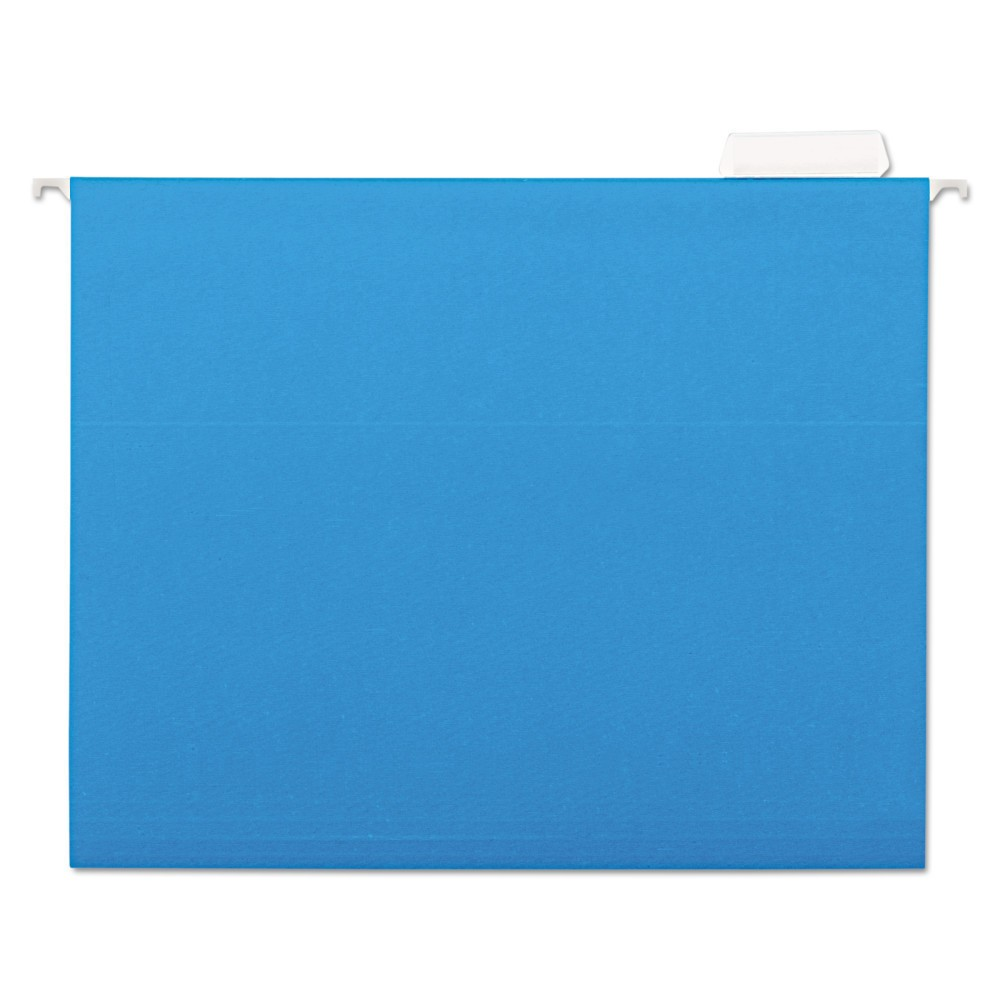 Universal One Hanging File Folders, 1/5 Tab, 11 Point Stock, Legal, Blue, 25/Box