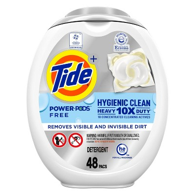 Tide Hygienic Clean Unscented Heavy Duty Power PODS Liquid Laundry Detergent - 48ct