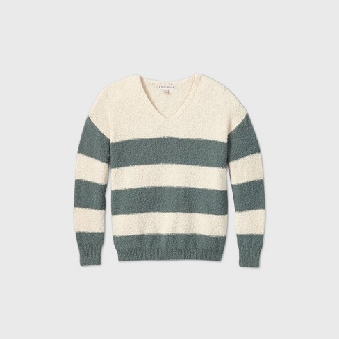 Women's Striped V-Neck Pullover Sweater - Knox Rose™ - image 1 of 2