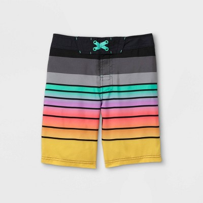 Boys' Ombre Striped Swim Trunks - art class™ Red