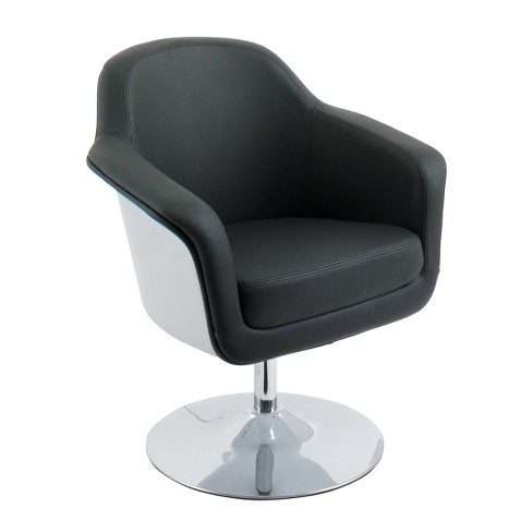 Modern Bonded Leather Accent Chair - CorLiving - image 1 of 4