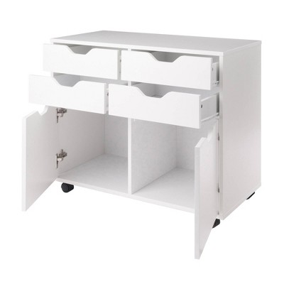 Halifax 2 Sections Mobile Storage Cabinet - Winsome