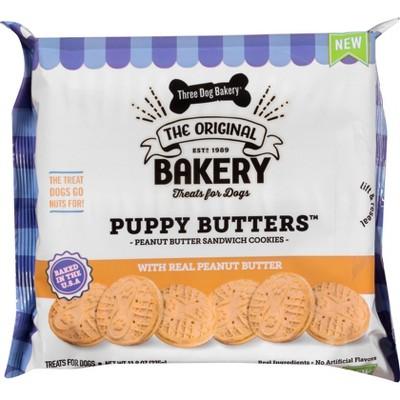 Three Dog Bakery Puppy Peanut Butter Dog Treats - 11.8oz