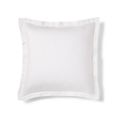 White Lightweight Linen Pillow Sham (Euro)- Fieldcrest®