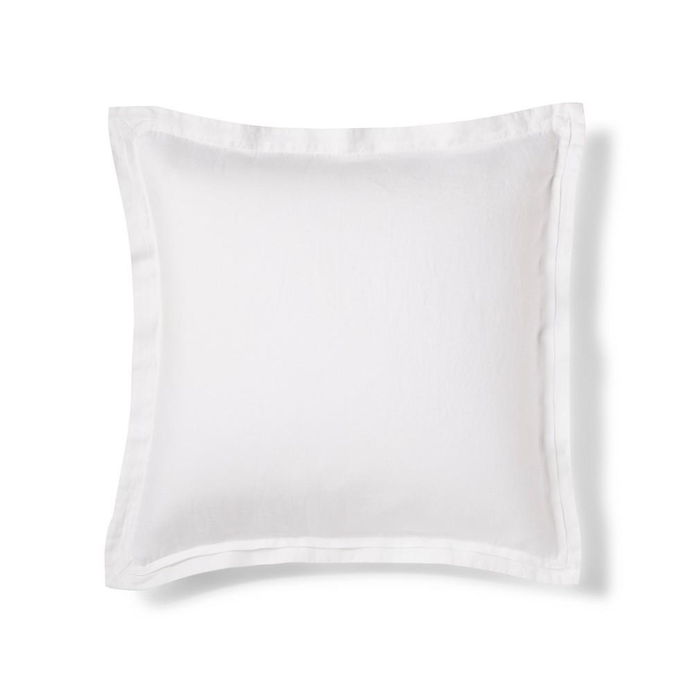 White Lightweight Linen Pillow Sham (Euro) - Fieldcrest