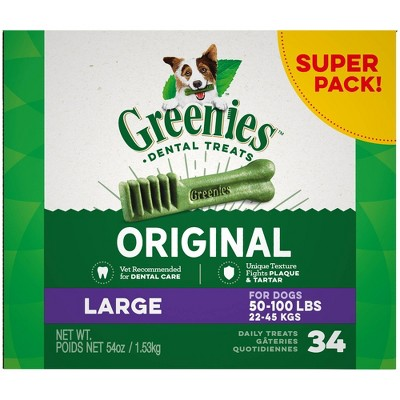 Greenies Original Large Natural Dental Dog Treats - 54oz