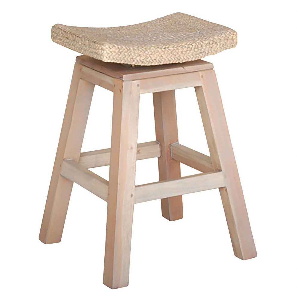 "Image of ""Sanibel 24"""" Counter Stool Wood/Whitewash - Jeffan"""