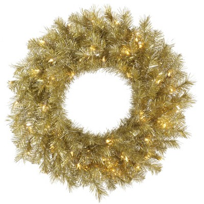 Vickerman Artificial Gold/Silver Tinsel Wreath