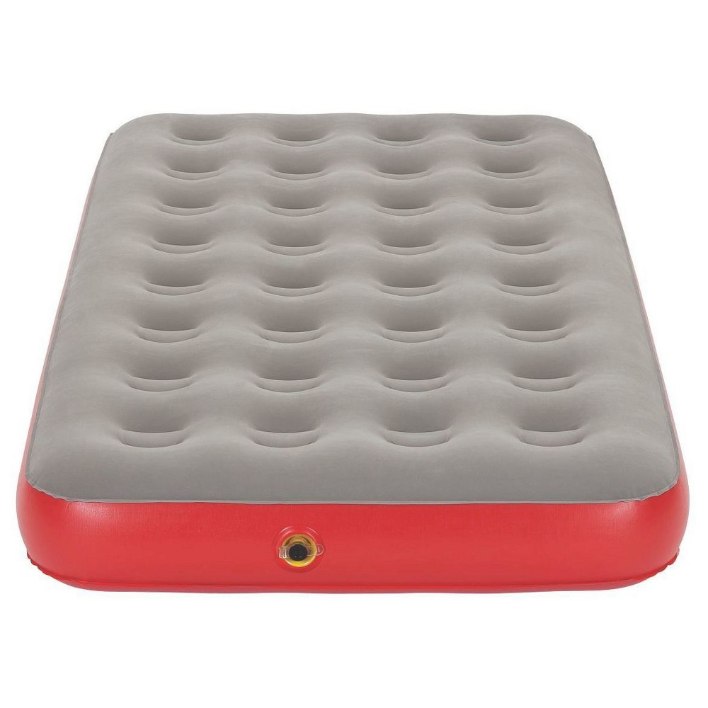 Coleman QuickBed Single High Airbed Twin - Gray/Red Whether you're camping in comfort or hosting more guests than you expected, keep the QuickBed Single-High Twin Airbed from Coleman on hand. This twin air mattress only takes two minutes to inflate and deflate, keeping things as easy as can be. Even better, it easily rolls up to fit in the included carrying bag, so storage is a breeze. Color: Gray/Red. Gender: Unisex.