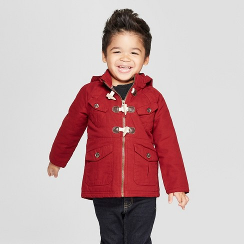 6f3c041d Genuine Kids® From OshKosh Toddler Boys' Canvas Military Jacket With  Utility Pockets And Hood - Dark Red 18M : Target