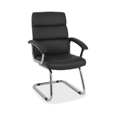 Traction Guest Chair with Softhread Leather Black - HON