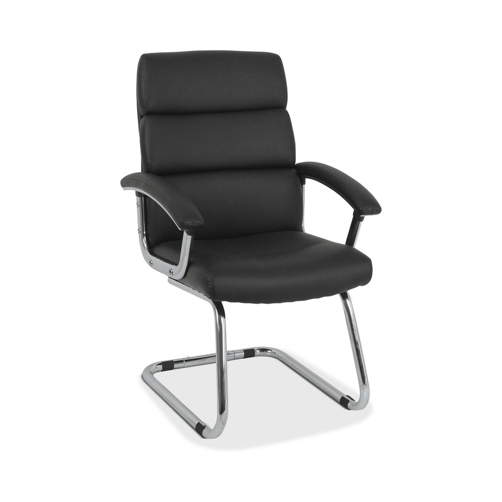 Image of Traction Guest Chair with Softhread Leather Black - HON