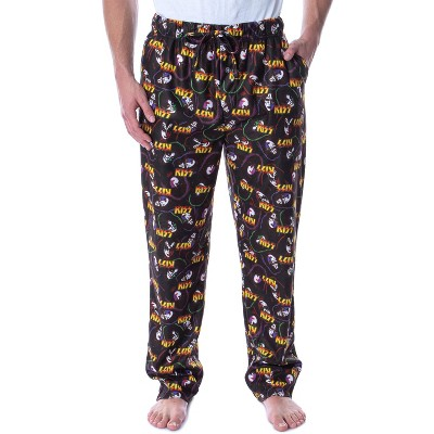 KISS Men's Allover Band Member Print Adult Loungewear Sleep Pajama Pants