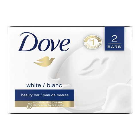Dove White Moisturizing Beauty Bar Soap - 3.75oz/2ct - image 1 of 4