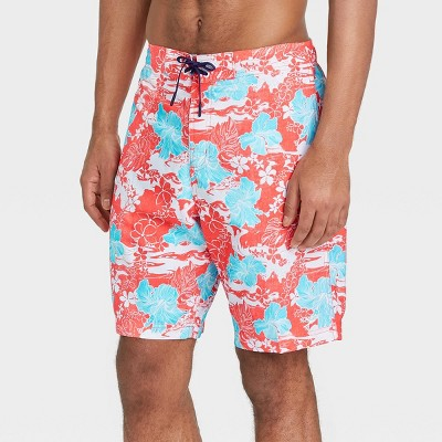 "Speedo Men's 8"" Floral Print Swim Trunks"