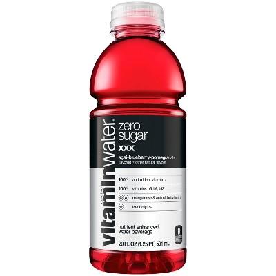 vitaminwater zero xxx aai- blueberry-pomegranate - 20 fl oz Bottle