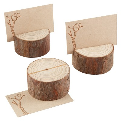 12ct Kate Aspen Rustic Real-Wood Place Card/Photo Holder