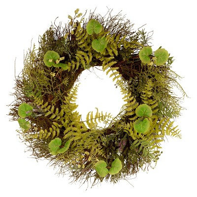 24  Fern and Lavender Door Wreath - National Tree Company