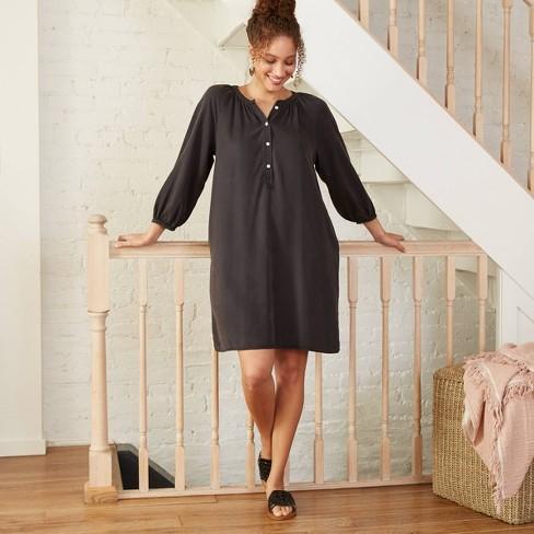 Women's Puff Long Sleeve Shirtdress - Universal Thread™ - image 1 of 3