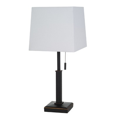 Square Stick with Outlet Table Lamps Bronze (Includes Energy Efficient Light Bulb)- Threshold™