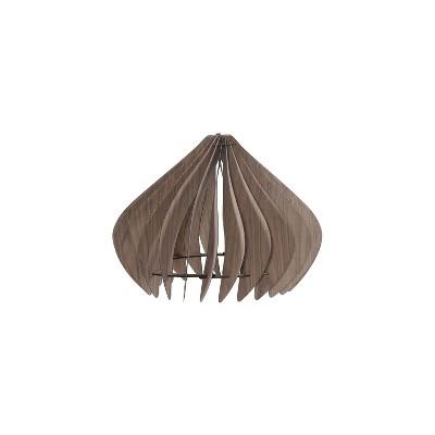 "14"" Modern Walnut Wood Hanging Pendant Light Brown - Ore International"