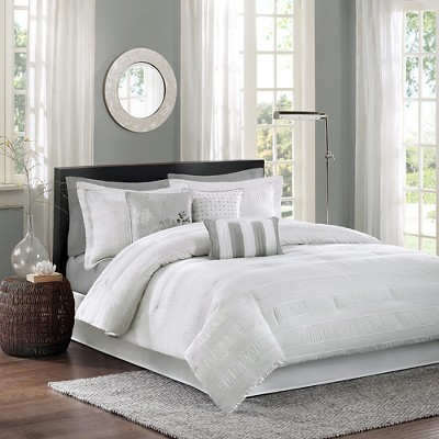 White Cullen Comforter Set King 7pc