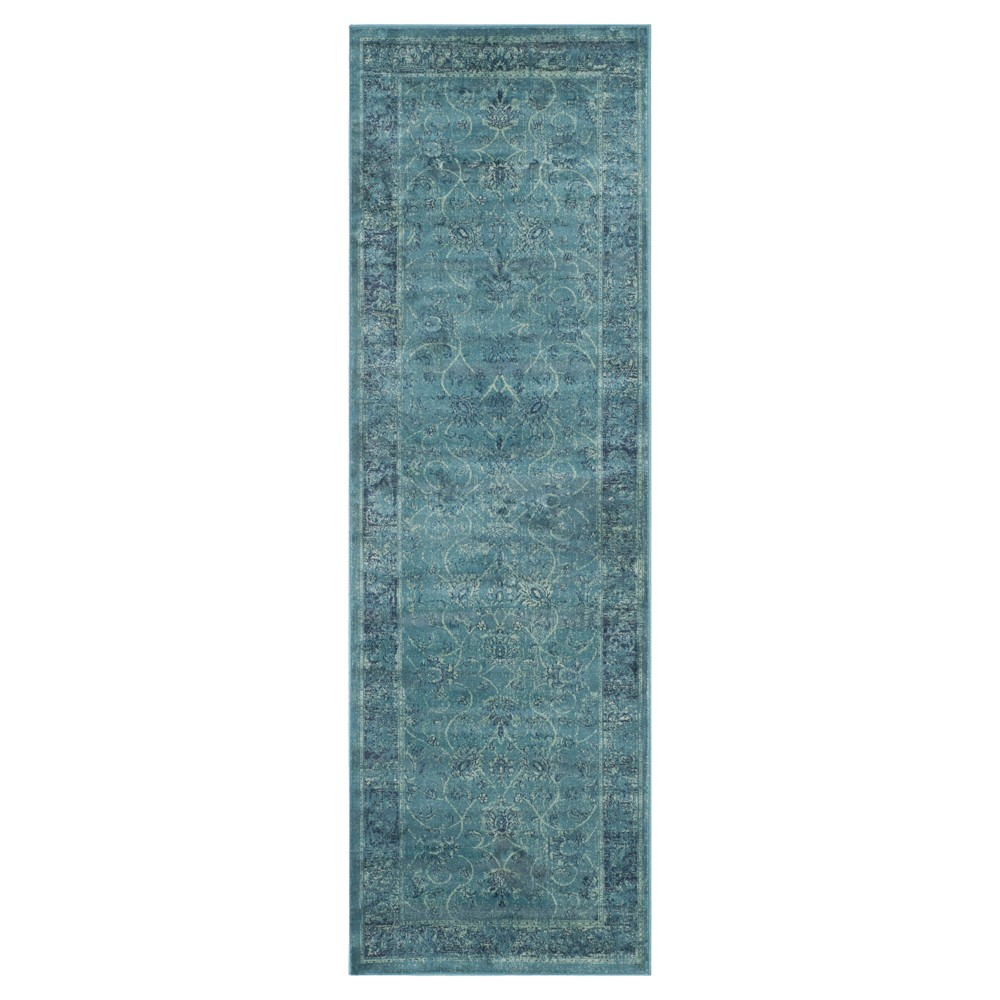 2'2X7' Ombre Design Runner Turquoise - Safavieh