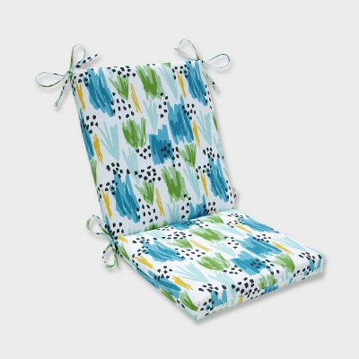 Flicker Seaglass Squared Corners Outdoor Chair Cushion Blue - Pillow Perfect