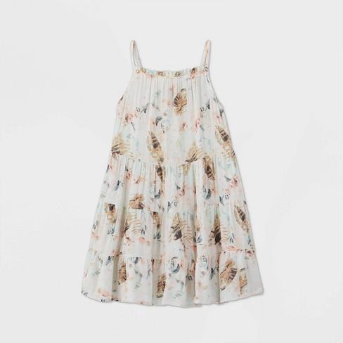 Girls' Ruffle Neck Sleeveless Dress - art class™ - image 1 of 2