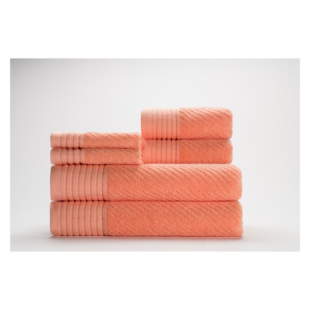 Image of 6pc Beacon Papaya Punch Bath Towels Sets - Caro Home, Orange Punch