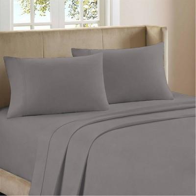 King 1200 Thread Count Cotton Rich Sateen Sheet Set Gray - Color Sense