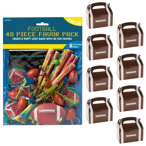 8ct Football Party Filled Favor Box Kit - image 1 of 1
