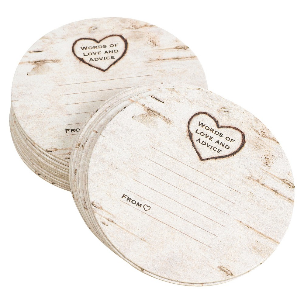 "Image of ""25ct Wood Grain """"Words of Love and Advice"""" Coaster"""