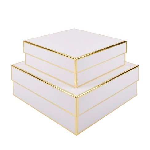 2pc White Square Gift Box Set - sugar·paper™ - image 1 of 1