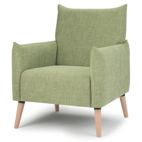 Fine Bradford Accent Chair Acid Green Linen Fabric Wyndenhall Short Links Chair Design For Home Short Linksinfo
