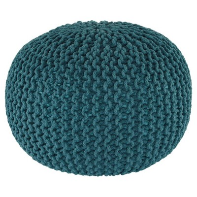 Nils Pouf Teal - Signature Design by Ashley