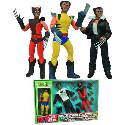 Diamond Select Marvel Wolverine 8 Inch Retro Action Figure Set