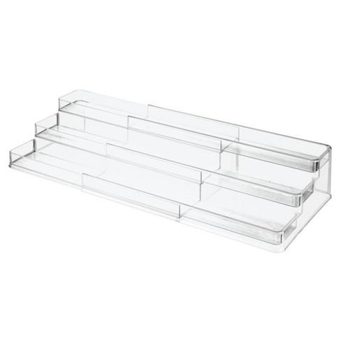 mDesign Large Expandable Spice Rack, Kitchen Storage Organizer, 2 Pack - image 1 of 4