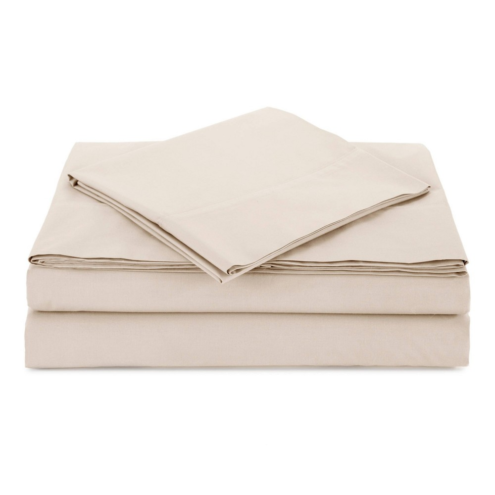 Queen Percale Solid Sheet Set Ivory Atelier Martex