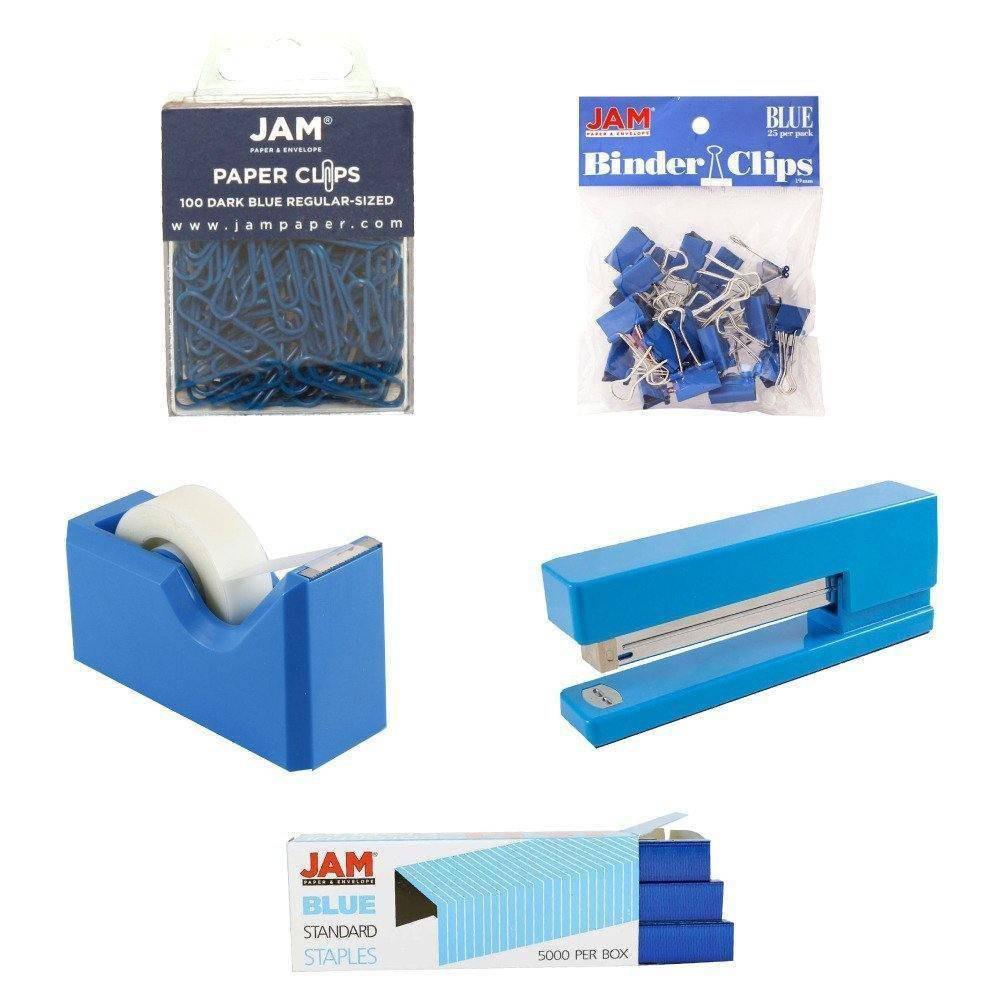 Jam Paper 5pk Office Starter Kit - Blue Jam Paper 5pk Office Starter Kit - Blue