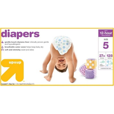 Diapers Giant Pack - Size 5 - 128ct - Up&Up™